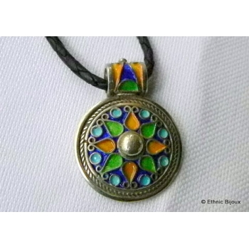 Pendentif argent Emaillou